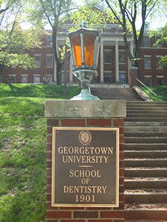 Georgetown Dental School sign